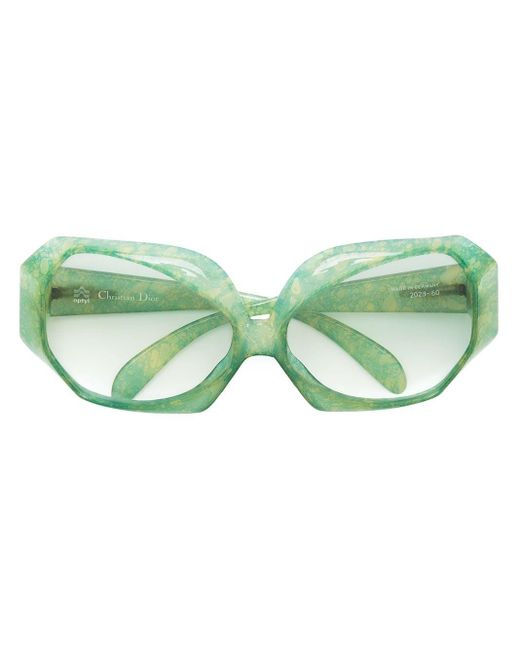 Dior スクエアフレーム 眼鏡フレーム Green