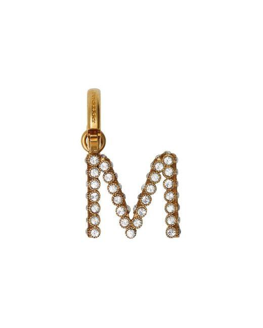 Burberry クリスタル「m」アルファベットチャーム Metallic