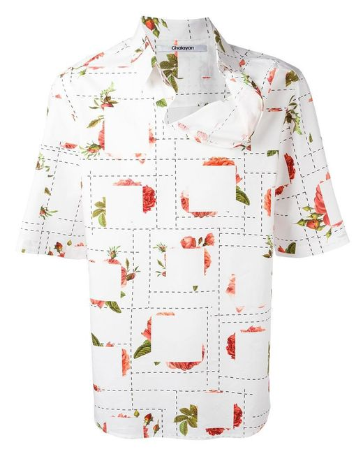 Chalayan - Multicolor Strayed Neckline T-shirt for Men - Lyst