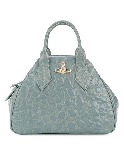Vivienne Westwood - Blue Embossed Shoulder Bag - Lyst