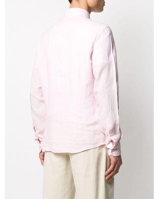 メンズ Hackett リネン シャツ Pink