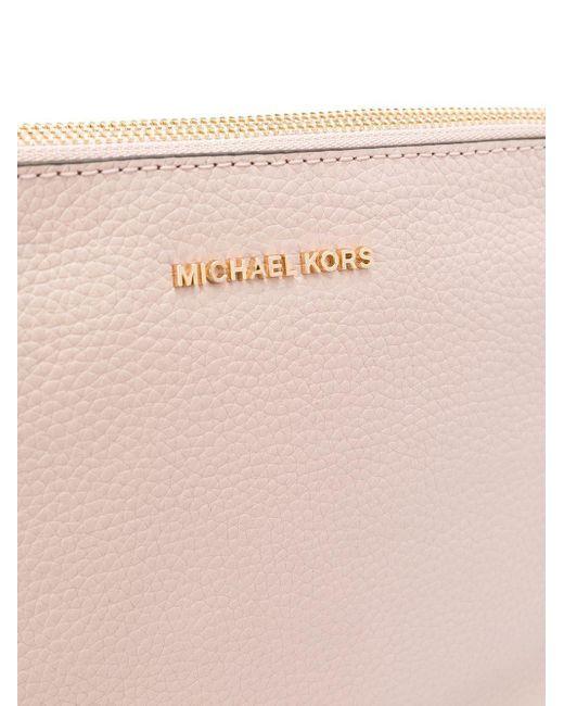 MICHAEL Michael Kors ロゴプレート ショルダーバッグ Pink