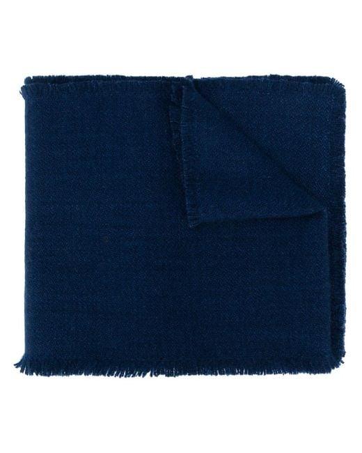 Denis Colomb フリンジスカーフ Blue