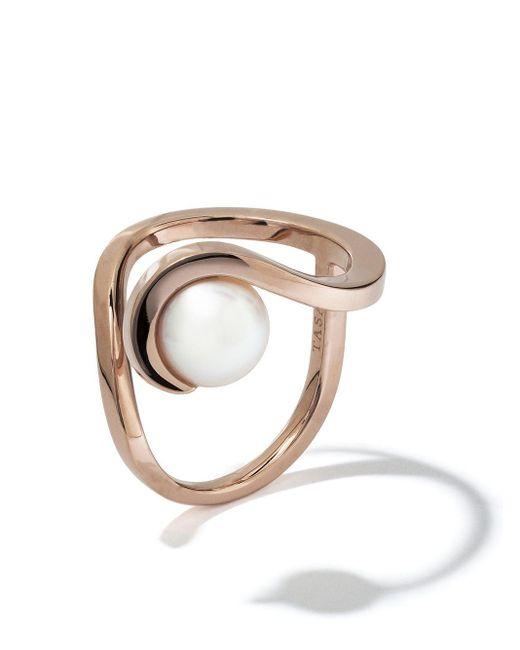 Tasaki Metallic 18kt Rose Gold Aurora Akoya Pearl Ring