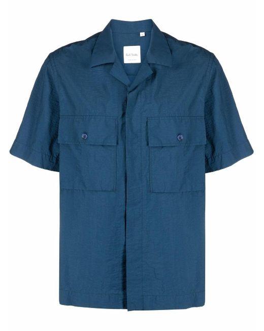 Рубашка С Короткими Рукавами И Карманом Paul Smith для него, цвет: Blue