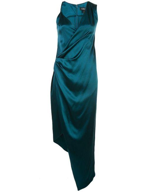 Robe mi-longue à design asymétrique Cushnie en coloris Blue
