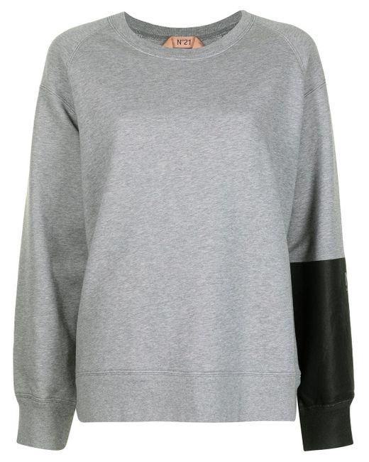 N°21 パネル スウェットシャツ Gray