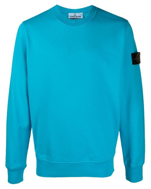 Толстовка С Нашивкой-логотипом Stone Island для него, цвет: Blue