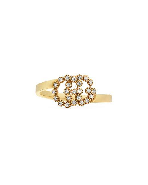 Gucci グッチ公式ダイヤモンド付き ダブルg リング18k イエローゴールドcolor_descriptionイエローゴールド Metallic
