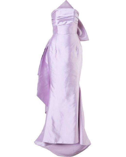 Bambah Bow イブニングドレス Purple