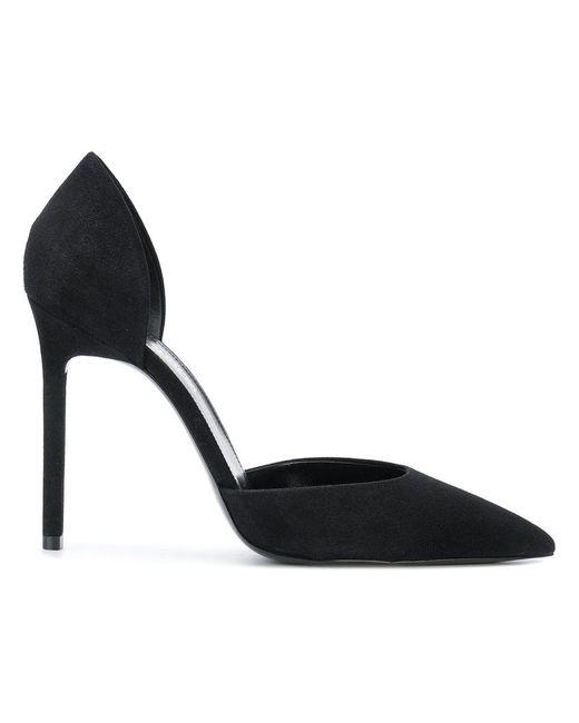 f782241ea2a9 Saint Laurent - Black Anja Pointed Toe Pumps - Lyst ...