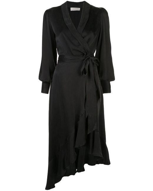 Zimmermann ラップドレス Black