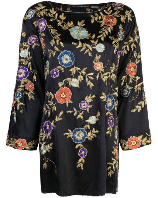 Josie Natori Couture エンブロイダリー チュニック Multicolor