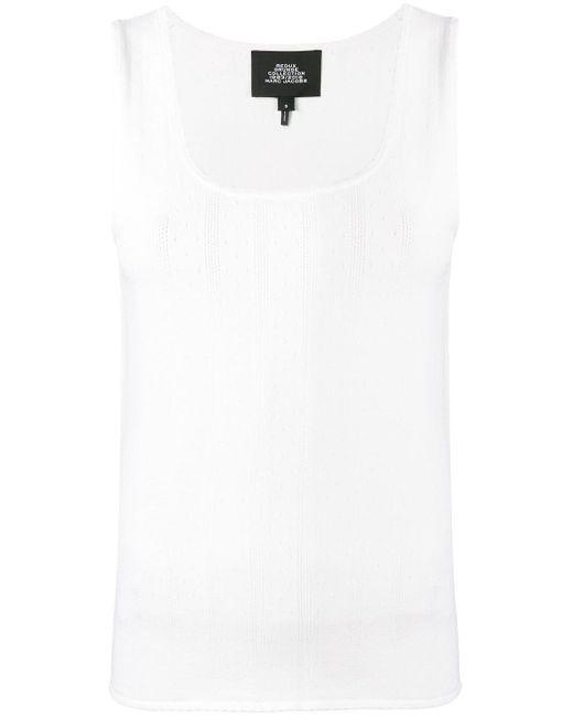 Marc Jacobs Top de tirantes con bordes festoneados de mujer de color blanco UVajk