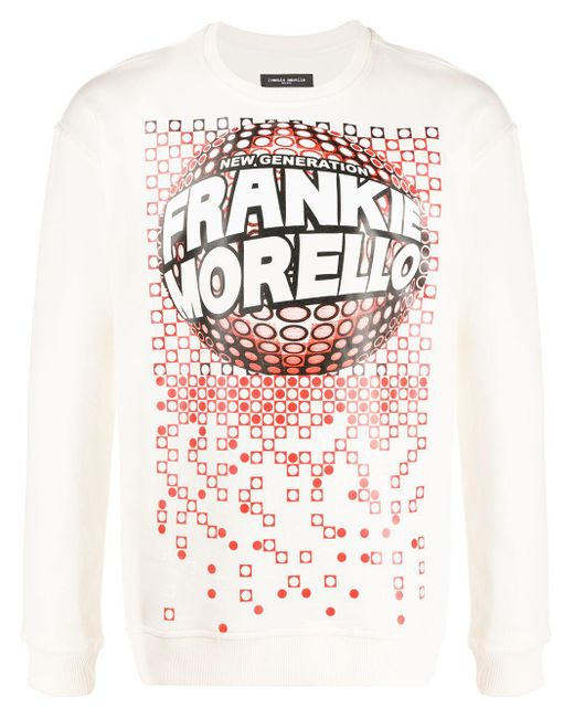 メンズ Frankie Morello ロゴ セーター White