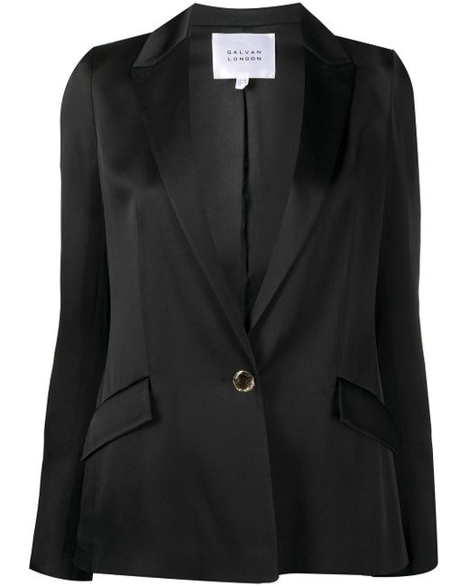 Galvan サテン シングルジャケット Black