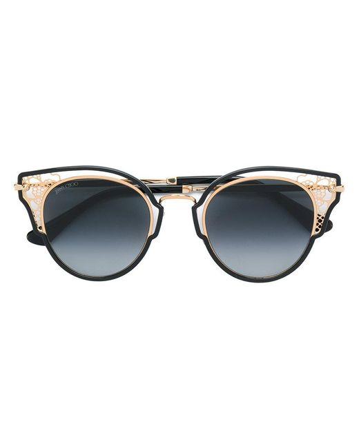 Jimmy Choo - Black Round Framed Sunglasses - Lyst
