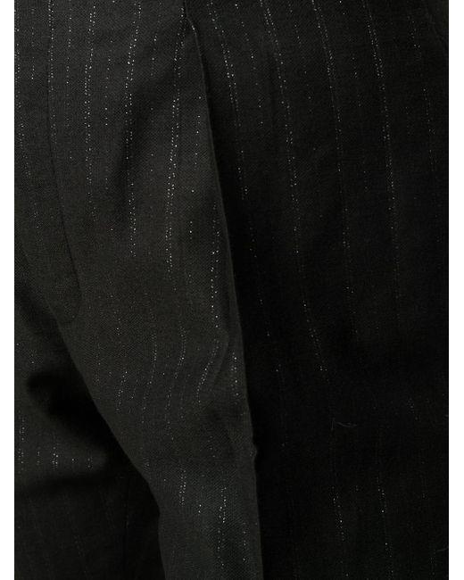 Брюки С Завышенной Талией PT01, цвет: Black