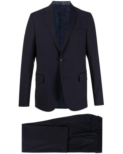 メンズ Etro ツーピーススーツ Blue