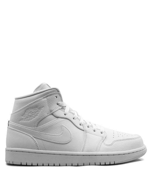 メンズ Nike ホワイト エア フォース 1 07 ミッド スニーカー White