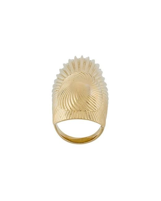Wouters & Hendrix | Metallic Curiosities Folded Leaf Ring | Lyst