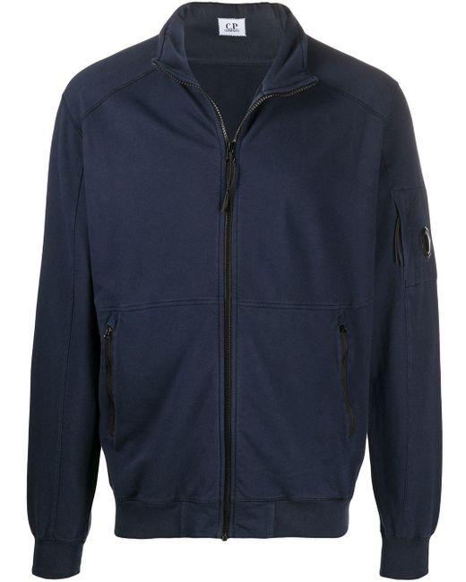 メンズ C P Company ハーフジップ スウェットシャツ Blue
