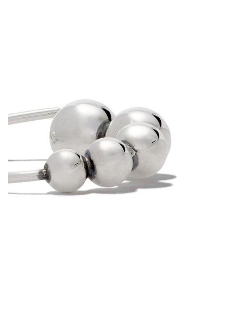 Серебряные Серьги Moonlight Grapes Georg Jensen, цвет: Metallic