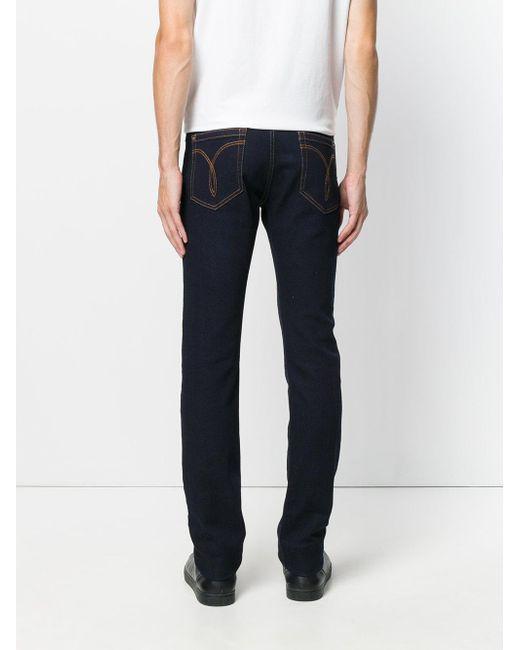versace slim fit jeans in blue for men save 6 lyst. Black Bedroom Furniture Sets. Home Design Ideas