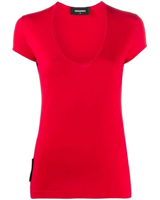 DSquared² スクープネック Tシャツ Red