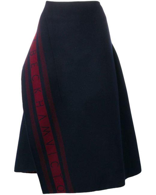 Victoria Beckham ロゴ スカート Blue