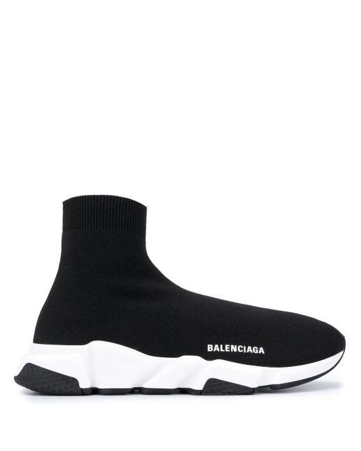 Balenciaga Black Speed Clear Sole Sneakers
