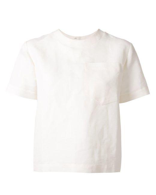CAFTANII ポケット Tシャツ White