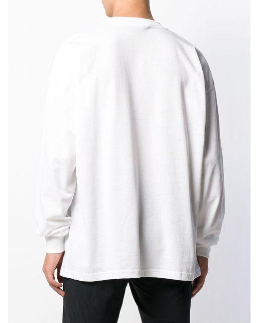 メンズ 1017 ALYX 9SM ロゴ ロングスリーブトップ White