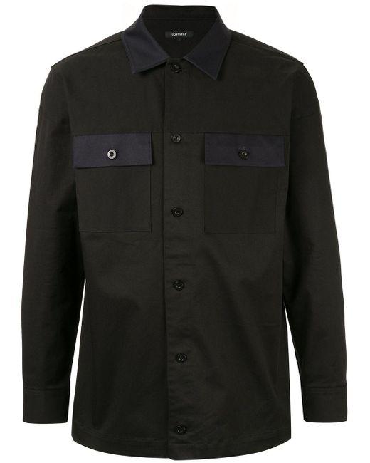 メンズ Loveless コントラストカラーポケット シャツ Black