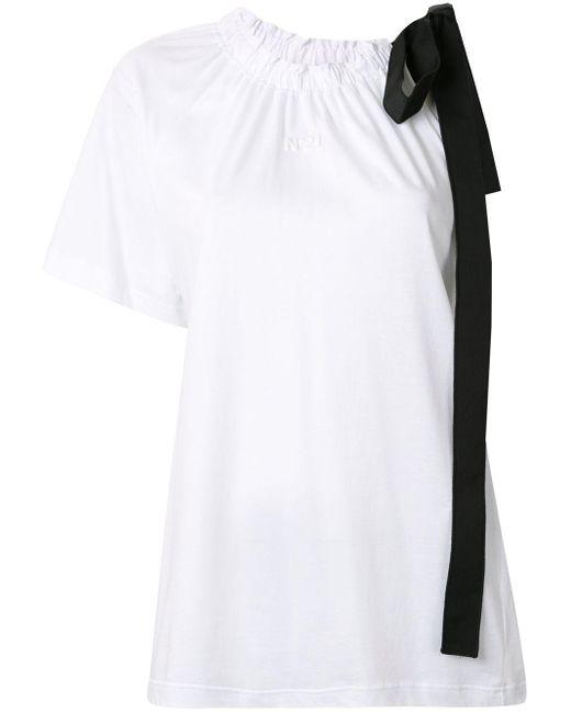 N°21 リボンディテール Tシャツ White