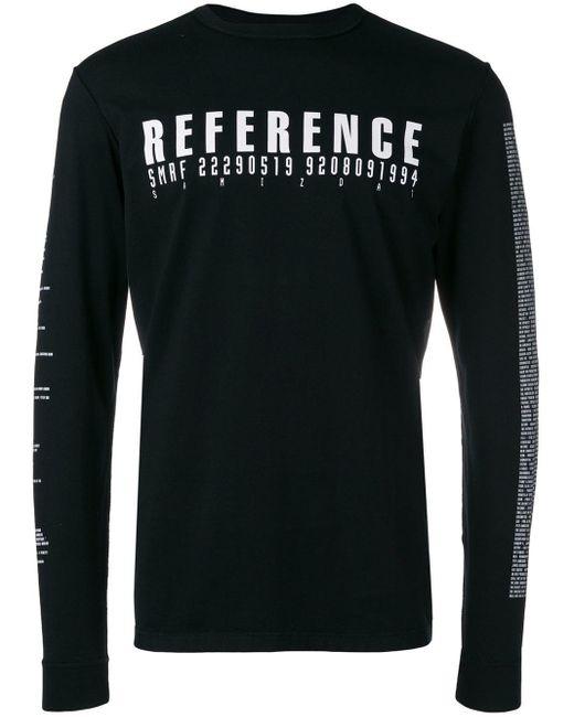 メンズ Yang Li Reference Tシャツ Black
