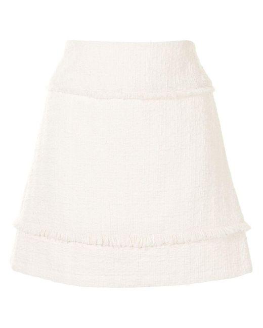 PROENZA SCHOULER WHITE LABEL ツイード Aラインスカート White