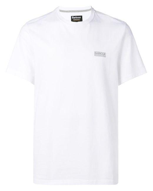 メンズ Barbour Small Logo T-shirt White