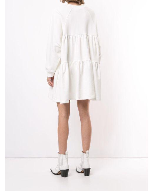 Cynthia Rowley Vail Cozy ギャザー ドレス White