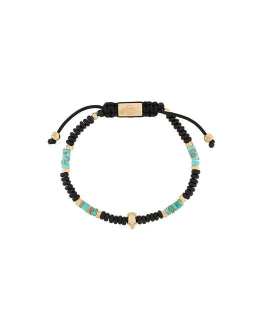 Bracelet en perles à tête de mort Northskull pour homme en coloris Black