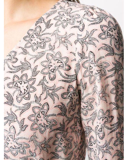 Блузка С Цветочным Принтом MICHAEL Michael Kors, цвет: Pink