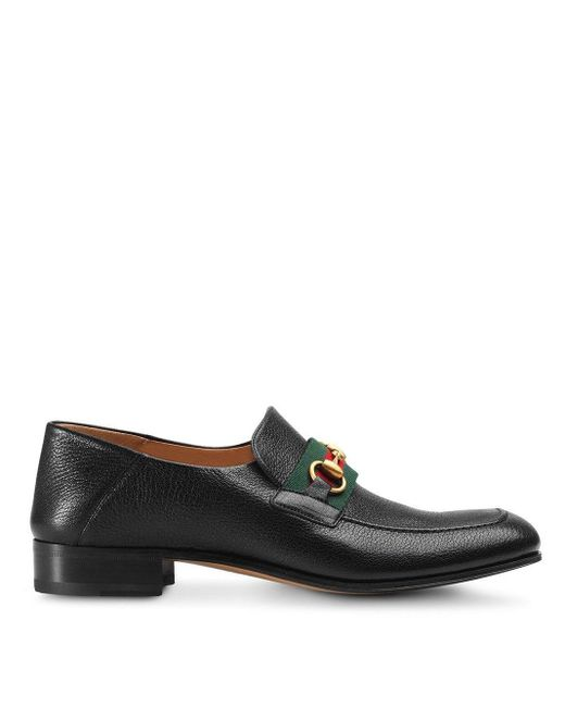 Лоферы 'horsebit' Gucci для него, цвет: Black