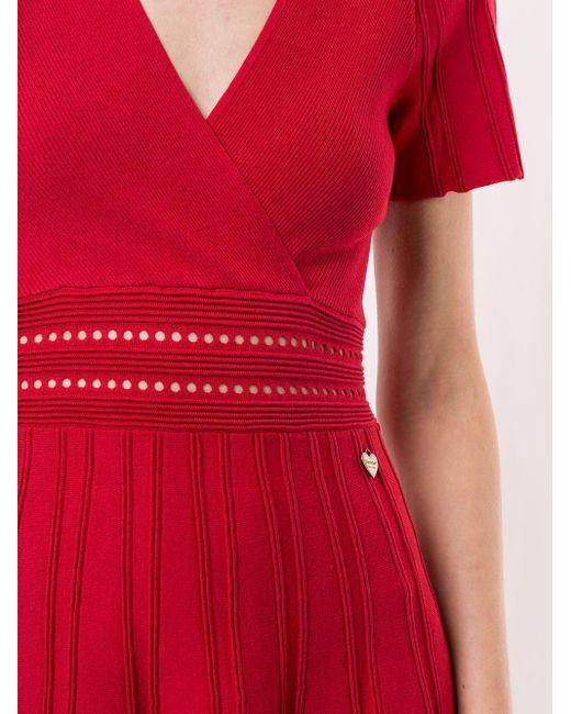 Twin Set Vネック ドレス Red