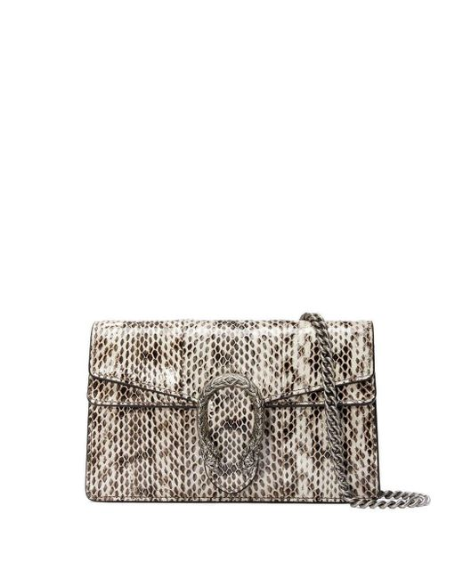 Gucci White Dionysus Super Mini Snakeskin Bag