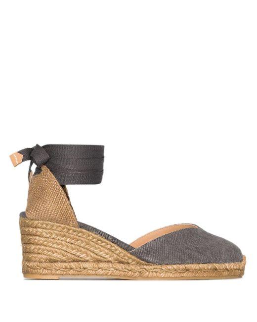 Castaner Blue Chiara 60mm Wedge Sandals