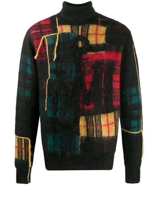 メンズ J.W. Anderson パッチワーク セーター Black