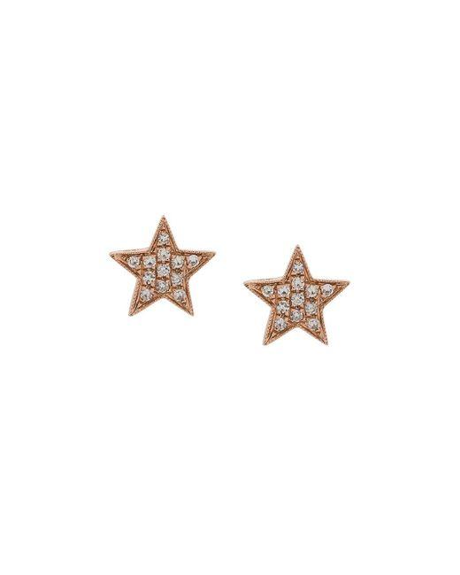 Dana Rebecca Julianne Himiko Star ダイヤモンド ピアス 14kローズゴールド Multicolor