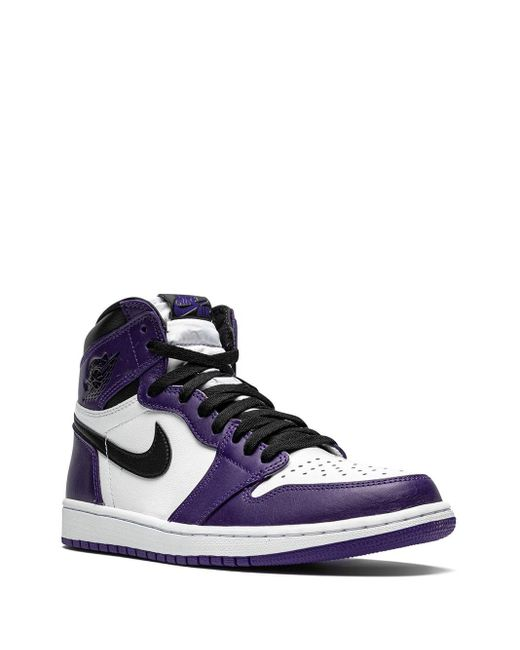 メンズ Nike Air 1 Retro High Og Court Purple 2.0 スニーカー White