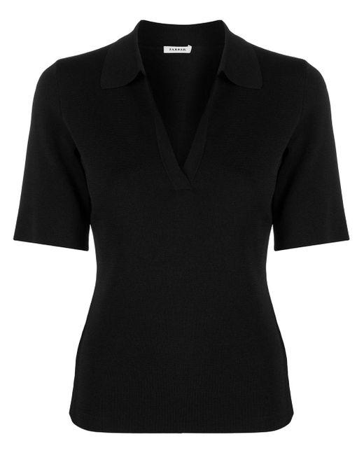 P.A.R.O.S.H. ニット ポロシャツ Black