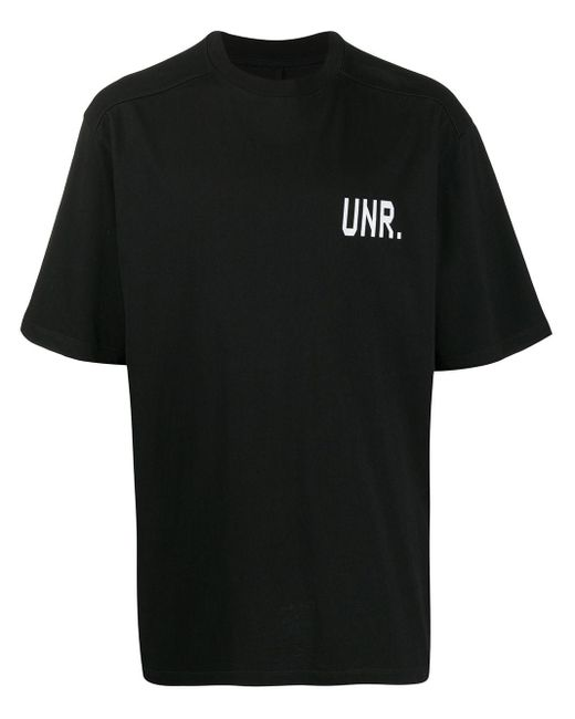 メンズ Unravel Project Lax Over ロゴ Tシャツ Black